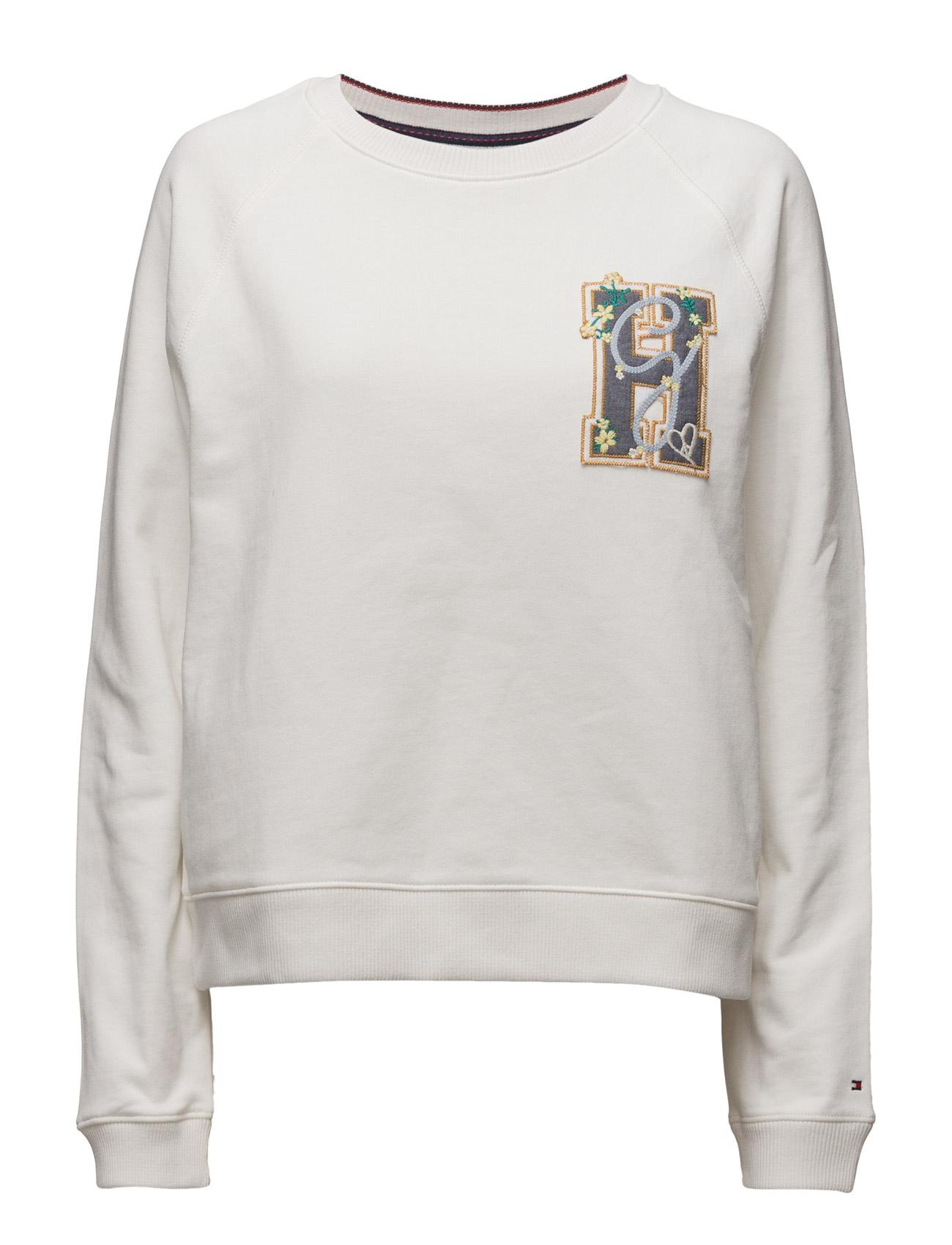 Cotton Sweatshirt Gigi Hadid Tommy Hilfiger  til Damer i hvid