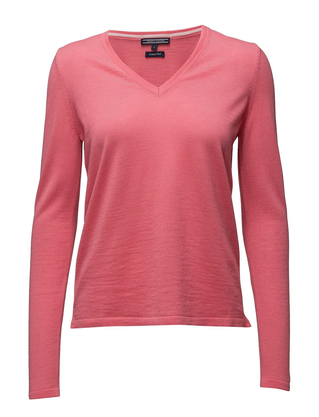 Ru New Guvera V-Nk Swtr Tommy Hilfiger Sweatshirts til Damer i Rød