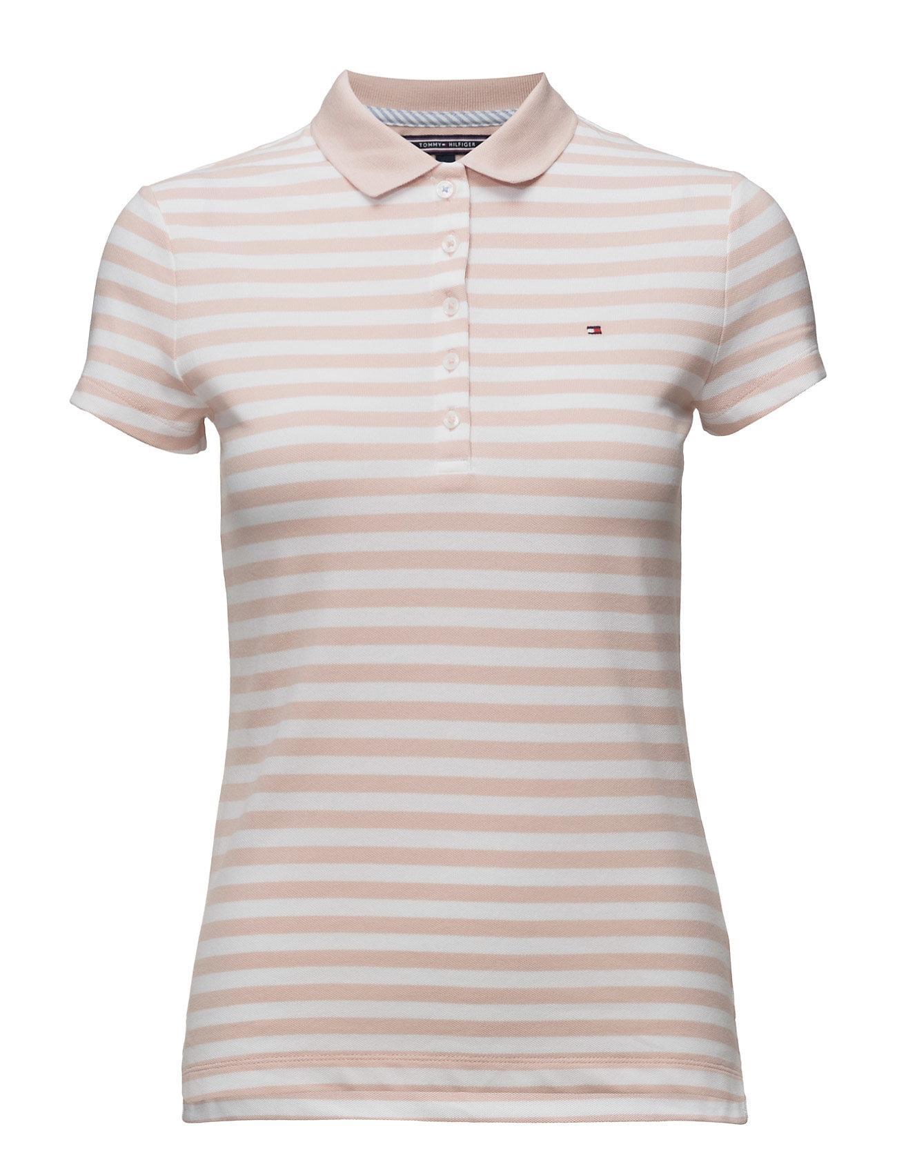 New Chiara Str Pq Polo Ss Tommy Hilfiger T-shirts & toppe til Kvinder i