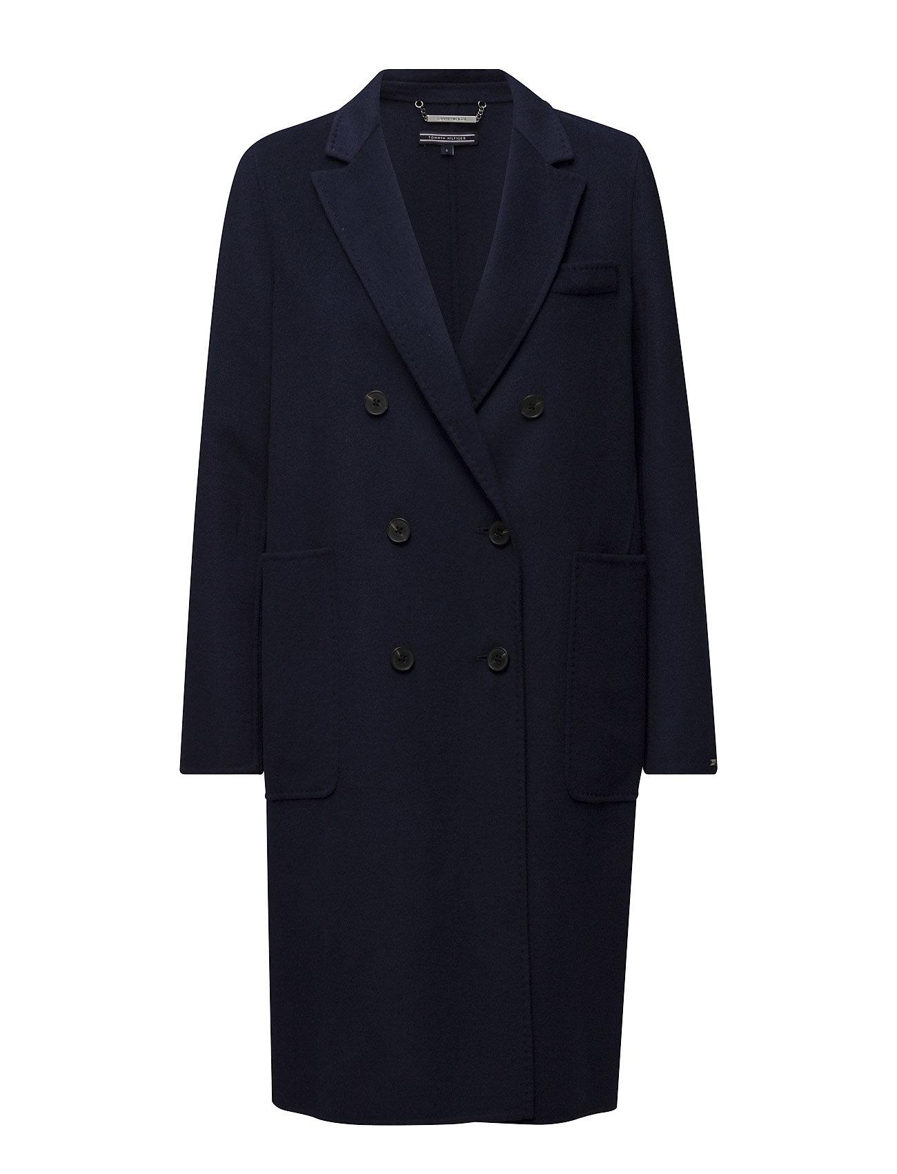 db2c9cb9a002 Find Carmen Db Wool Coat Tommy Hilfiger Frakker i Blå til Kvinder på  Boozt.dk