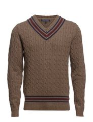 EDDY CRICKET V-NK CF - WALNUT HEATHER-EUROPE / MULTI