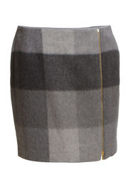 MIA SK2 SKIRT - MEDIUM GREY HEATHER/ MULTI