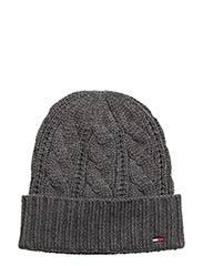 CABLE BEANIE - GREY