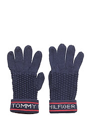 HILFIGER CUFF GLOVES - ESTATE BLUE