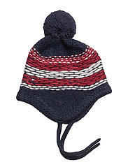 INSIDE OUT FAIR ISLE BEANIE - BLUE
