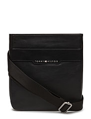 SMOOTH LEATHER MINI, - BLACK