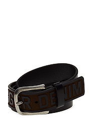 THD HILFIGER DENIM BELT 4.0CM - BLACK