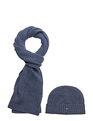 STRUCTURED KNIT GIFT - TOMMY NAVY