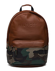 BRANDED LEATHER BACK - COGNAC / CAMO