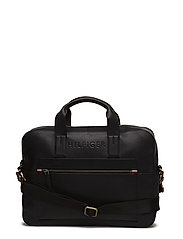 BRANDED LEATHER COMP - BLACK