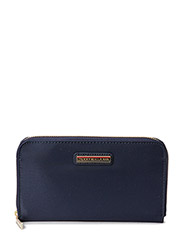 POPPY SOLID LARGE Z/A WALLET - BLUE