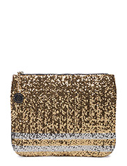 GIGI HADID HOLIDAY CLUTCH - BEIGE