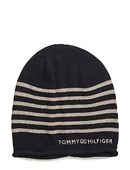 TOMMY STRIPE BEANIE - BLUE