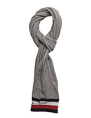CABLE SCARF - GREY