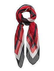 TOMMY HEARTS SCARF - RED