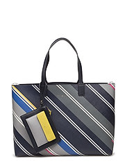 LOVE TOMMY TOTE PRINT - BLUE