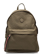 POPPY BACKPACK QUILTED ARGYLE - GREEN
