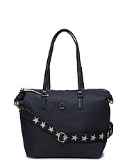 POPPY TOTE QUILTED A - QUILTED TOMMY NAVY