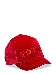 VELVET CAP, OS - 614-TOMMY RED
