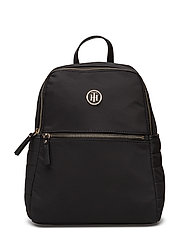 CHIC NYLON BACKPACK, - BLACK