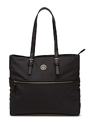 CHIC NYLON TOTE, OS - BLACK