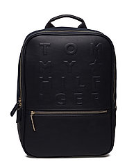 LOGO STORY BACKPACK, - TOMMY NAVY