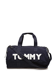 TOMMY NYLON DUFFLE, - TOMMY NAVY
