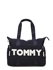 TOMMY NYLON TOTE, 90 - TOMMY NAVY