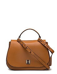 TH TWIST LEATHER MED - COGNAC
