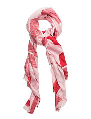 TOMMY TEXTURE SCARF, - PINK MIX