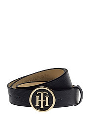 TH ROUND BUCKLE BELT - TOMMY NAVY