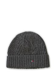 CABLE BEANIE - CHARCOAL HTR