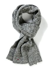 ADEL SCARF - CHARCOAL HTR/ MULTI