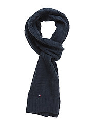 NEW CABLE SCARF - BLUE