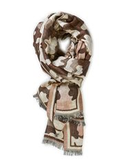 LEIKO SCARF - LIGHT GREY HTR/ MULTI
