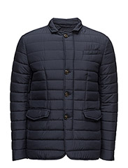 QUILTED PADDED BLAZER - BLUE