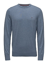 COTTON SILK CNECK, M - INFINITY HEATHER