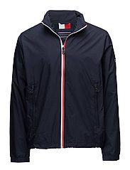 RED WHITE ZIP JACKET - NAVY BLAZER