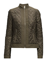 TANYA QUILTED COMBO JKT - GREEN