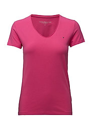 LIZZY V-NK TOP SS - PINK