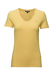 LIZZY V-NK TOP SS - YELLOW