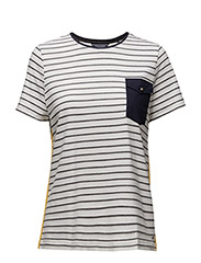 FLORENCE C-NK TOP SS - WHITE