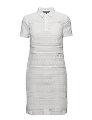 ASPEN POLO DRESS SS - WHITE