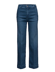 TAILORED WIDE LEG ANKLE CYNTHIA - DENIM