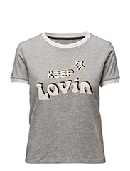 Cotton Printed T-shirt Gigi Hadid - GREY