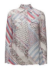Silk Chiffon Printed Blouse Gigi Hadid