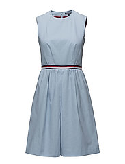 TAYLOR SOLID DRESS NS - BLUE
