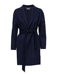CARMEN WOOL COAT, S - BLUE