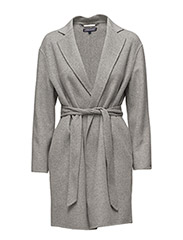 CARMEN WOOL COAT, S - GREY