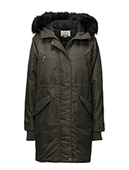 GIGI HADID DOWN PARKA - GREEN